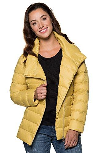 GINA LAURA Damen bis Größe 3XL   Steppjacke   Kurze Daunen-Jacke mit Stehkragen   Reißverschluss   gelbgrün S 713193 49-S