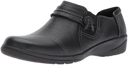 Clarks Women's Cheyn Madi Loafer, Black Tumbled Leather, 9.5 M US