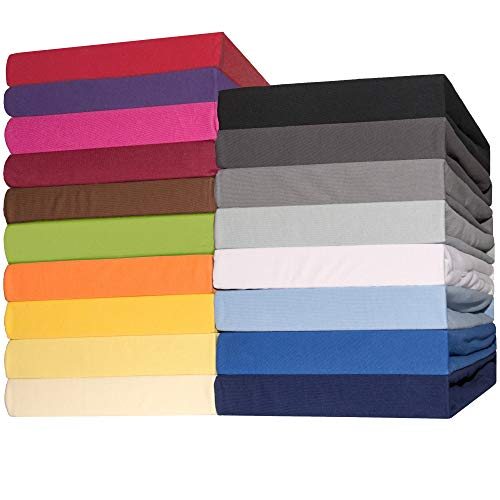 CelinaTex Lucina Spannbettlaken 140x200-160x200 cm schwarz Baumwolle Spannbetttuch