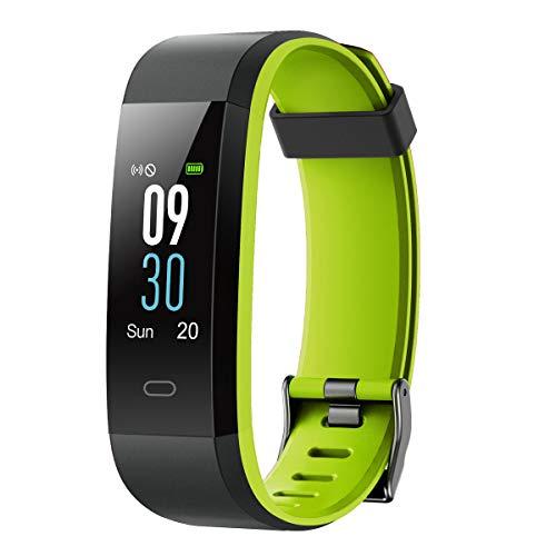 LATEC Fitness Armband, Smartwatch mit Pulsmesser Wasserdicht IP68 Fitness Tracker 0,96'' Farbbildschirm Fitness Uhr Schrittzähler Sportuhr Pulsuhren für Damen Herren Anruf SMS Beachten für iOS Android