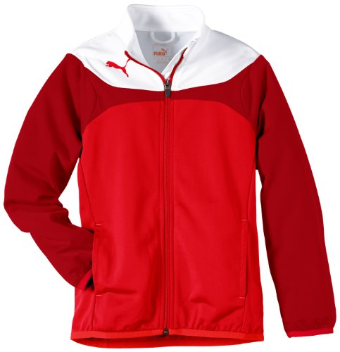 PUMA Kinder Jacke Esito Tricot Jacket, red-white, 152, 653973 01