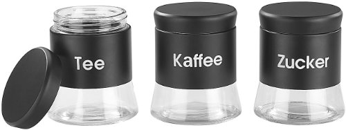 Cucina di Modena Kaffeedose: Vorratsdosen-Set für Tee, Kaffee & Zucker, 3 Stk. (Teedose)