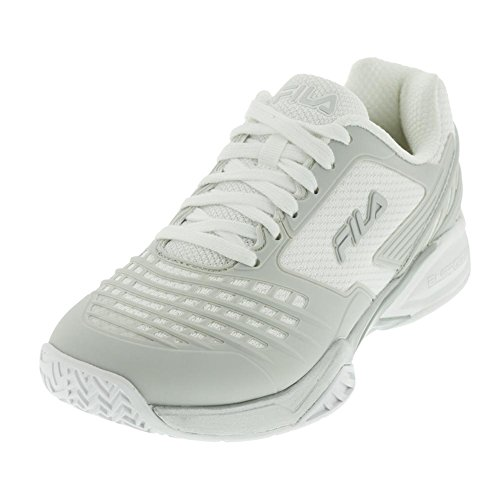 Fila Women's Axilus Energized Tennis Sneakers, White, Nylon, Rubber, Man Made, 11 M