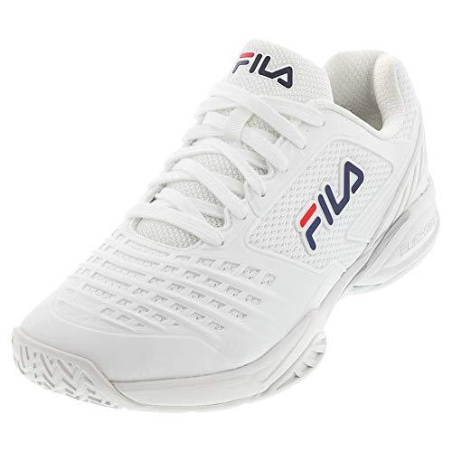 FILA Women's Axilus 2 Energized Tennis Shoe (White/White/FILA Navy, 11)