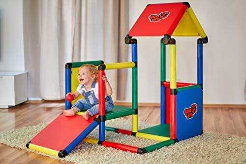 Quadro | Adventure | Klettergerüst für drinnen und draußen | Fördert Entwicklung von Kindern | Beliebig modular & erweiterbar | 6 Jahre Garantie | Ab 6 Monaten bis 6 Jahren