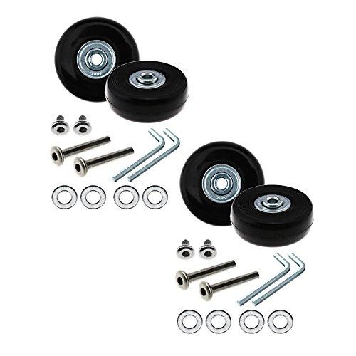 D2D Gepäck Rollen Ersatz Reparatur OD 50mm Achsen-Set Ersatz Metall, 1Paar/2Paar