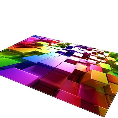 Greatideal Teppichläufer Teppich Rutschfeste 3D Isolierauflage der Bunten Einfachen Artkinder für Wohnzimmer Schlafzimmer Ausgangsdekoration
