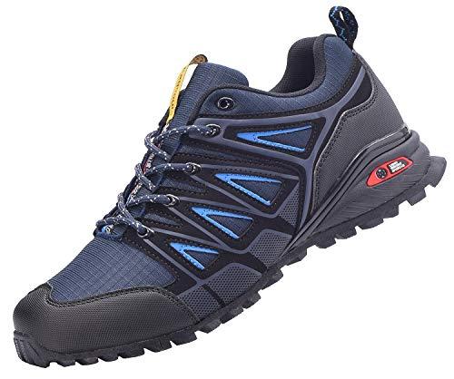 Eagsouni Laufschuhe Herren Damen Traillaufschuhe Sportschuhe Turnschuhe Sneakers Schuhe für Outdoor Fitnessschuhe Joggingschuhe Straßenlaufschuhe, Blau, 47 EU