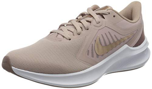 Nike Womens Downshifter 10 Running Shoe, Stone Mauve/Metallic Red Bronze-Smokey Mauve-Barely Rose, 39 EU