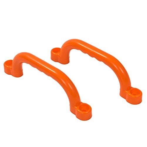 OSKAR 2er Set stabile Haltegriffe in orange aus PE inkl. Befestigungsmaterial!