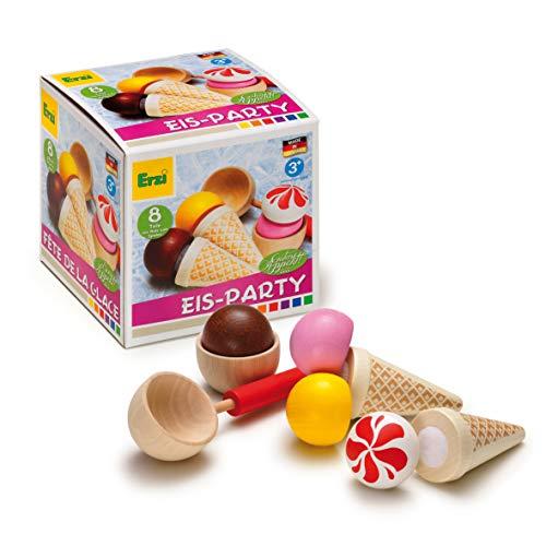 Erzi 28157 Sortierung EIS-Party aus Holz, Kaufladenartikel für Kinder, Rollenspiele