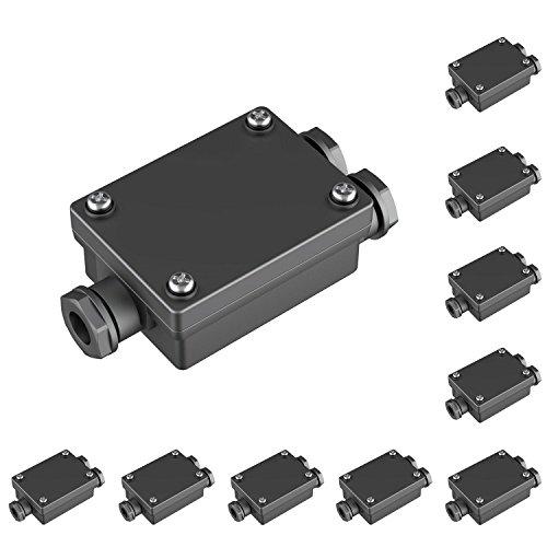 parlat Kabel-Verbinder 2-fach, wetterfest, Muffe für 6-8mm Kabel IP68, 10 Stk.