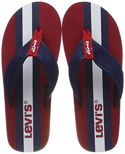 Levis Footwear and Accessories Herren Dodge Sportswear Zehentrenner, Rot (Regular Red 87), XL
