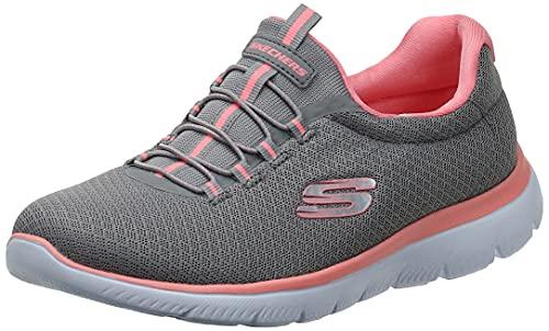 Skechers Damen Summits Sneaker, Grey Pink, 38 EU