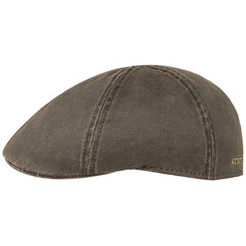 Stetson Flatcap Level Herren - Schirmmütze mit Baumwolle - Herrenmütze mit UV-Schutz 40+ - Mütze im Vintage-Look - Schiebermütze Sommer/Winter - Flat Cap braun M (56-57 cm)