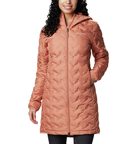 Columbia Women's Delta Ridge Long Down Jacket, Nova Pink, Medium