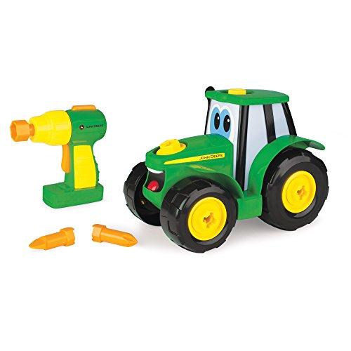 John Deere Bau-Dir-Deinen-Johnny-Traktor, Kinder Traktor zum Selbstbauen, Hochwertiger Traktor für Kinder ab 18 Monaten, Spielen und Sammeln, Spielzeugtraktor, Geschenke für Kleinkinder