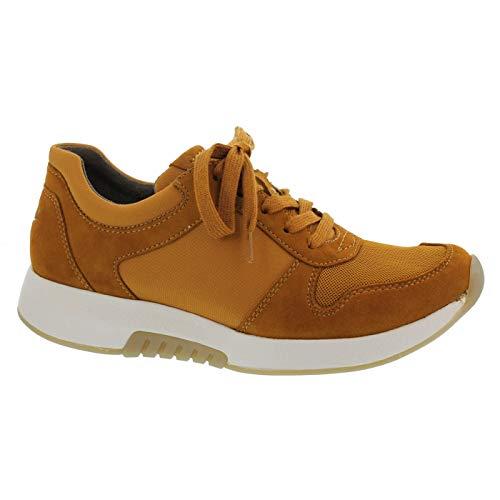 Gabor Damen Low-Top Sneaker 36.946, Frauen Sneaker,Halbschuh,Schnürschuh,Strassenschuh,Business,Freizeit,Curry,40.5 EU / 7 UK