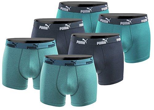 PUMA 6er Pack Boxershort Größe XL Herren Basic Black Limited Edition Ocean Power