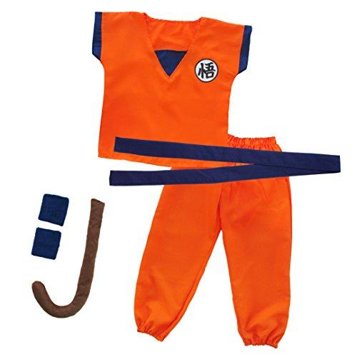 papapanda Kinder Trainingsanzug für Son Goku Drachen Ball Kostüm L
