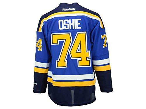 Reebok NHL Eishockey Trikot Jersey Premier St. Louis Blues TJ Oshie #74 blau (M)
