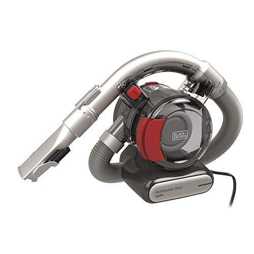 Black+Decker PD1200AV-XJ Dustbuster PD1200AV Flexi PD1200AV Auto-/Handstaubsauger (mit flexiblem Saugschlauch mit 12V Anschluß Auto, Beutellos, 1x Staubsauger inkl. Fugendüse und Polsterbürste)