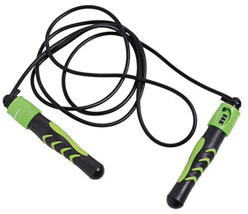 Schildkröt Fitness Springseil Jump Rope mit Zählwerk, Schwarz-Anthrazit, in 4-Farb Karton, 960023