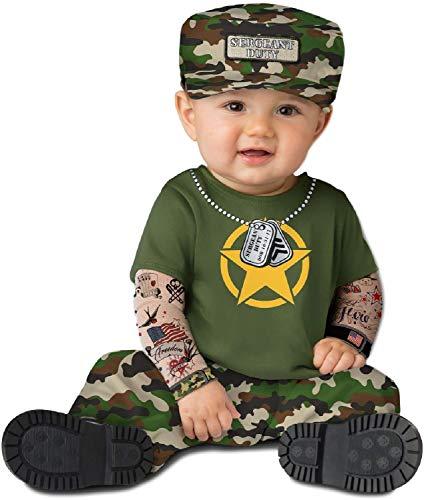 Fancy Me Baby Jungen Mädchen Armee Soldat Militär Cute Camo Halloween Karneval Kostüm Outfit 0-24 Monate
