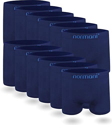 normani 6 oder 12 Mikrofaser-Unterhosen für Herren | atmungsaktive Sport-Funktions-Unterwäsche | Boxershorts | Retroshorts für Männer [Gr. S-3XL] Farbe 12 x Blau Größe L/XL