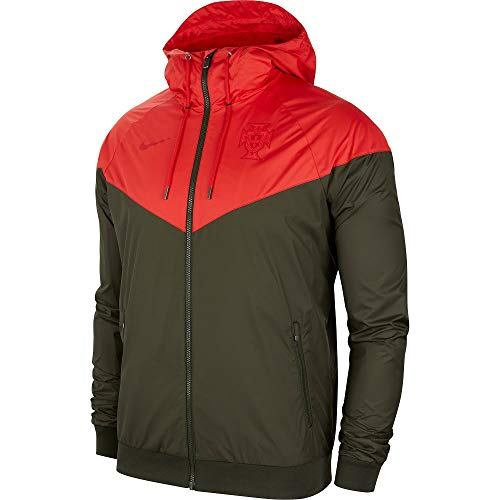 Nike Portugal NSW Authentic Windrunner Jacke - rot/schwarz 2020-2021 - S