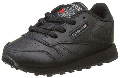 Reebok Unisex Baby Classic Leather Sneaker, Schwarz (Black 1), 22.5 EU