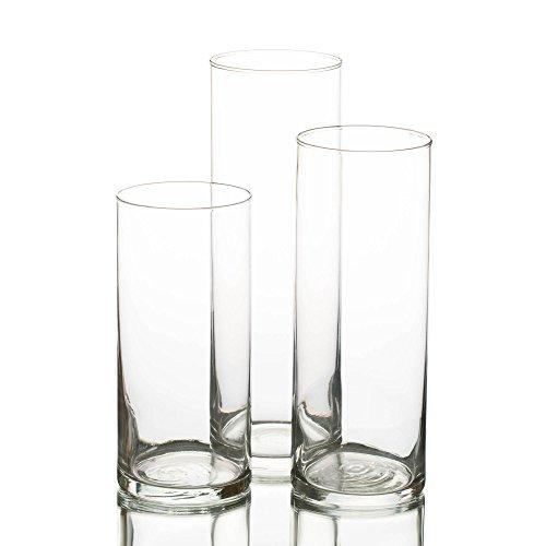 Eastland® Glas Zylinder Vase Set von 3