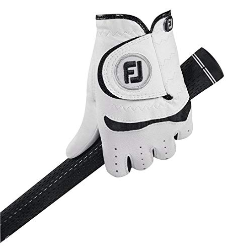 Footjoy Kinder Golfhandschuh Junior RH für rechte Hand (Linkshänder), Weiß (White), Medium