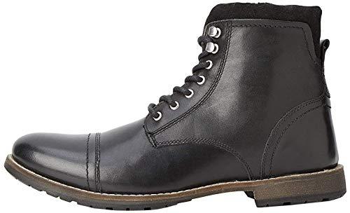 find. Max Herren Zip Worker Biker Boots, Schwarz (Smart Black), 45 EU