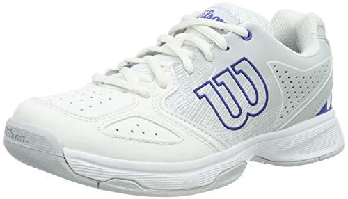 WILSON Unisex-Kinder Stroke Jr Tennisschuhe, Weiß/Blau (White/Pearl Dazzling Blue), 36 EU