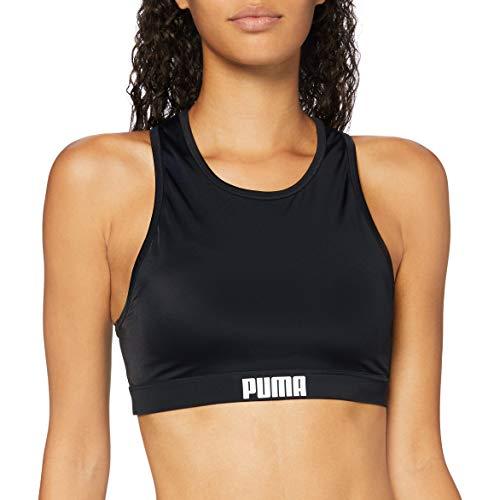 PUMA Women's Damen Schwimmoberteil Racerback, Schwarz, M