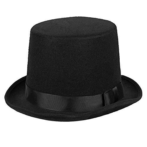 Boland 04213 - Hut Byron, schwarz, Zylinder, Filz, elegant, one size, 20er Jahre, Gatsby, Karneval, Halloween, Fasching, Mottoparty, Verkleidung, Theater