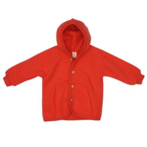 Engel Baby-Jacke, Farbe: Hibiscus - 50/56 Wollfleece 100% Schurwolle