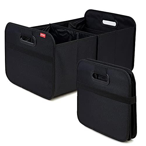 achilles Auto Faltbox, Kofferraumtasche faltbar, Einkaufstasche, Kofferraum-Organizer, Autotasche, Falt-Korb, Falttasche, Kofferraumtasche, Aufbewahrung Taschen, Box, schwarz, 50 cm x 32 cm x 27 cm