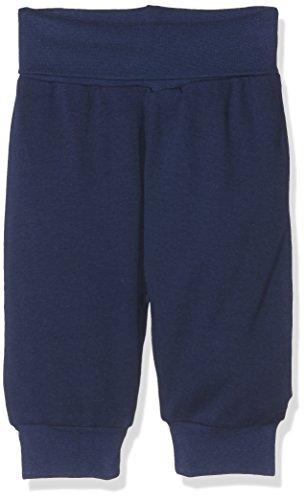 Schnizler Kinder Pump-Hose aus 100% Baumwolle, komfortable und hochwertige Baby-Hose mit elastischem Bauchumschlag, Blau (Marine 11), 74