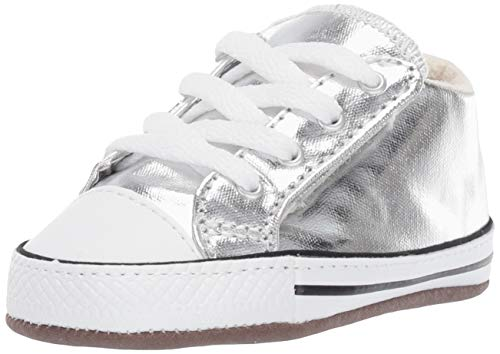Converse Baby CTAS CRIBSTER MID 866038C metallic Granite, Größe:17 EU