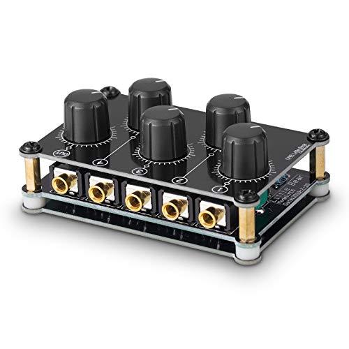 Little Bear MC5 Mini Tragbar 4 Kanal Line Mixer Live Studio Aufnahmen Passive Stereo Audio Mixer Recording Low Noise (No Power Needed)