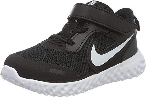 Nike Unisex-Child Revolution 5 (PSV) Running Shoe, Black/White-Anthracite, 32 EU