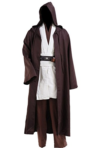 Fuman Star Wars Kenobi Jedi Tunic Cosplay Kostüm Jedi Kostüme für Erwachsene L