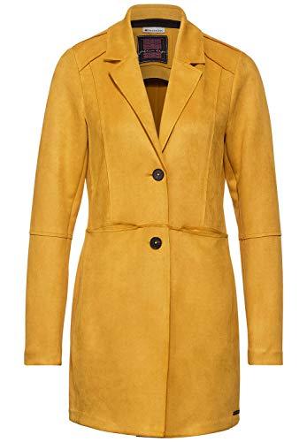 Street One Damen Velours-Indoormantel Amber Yellow 38