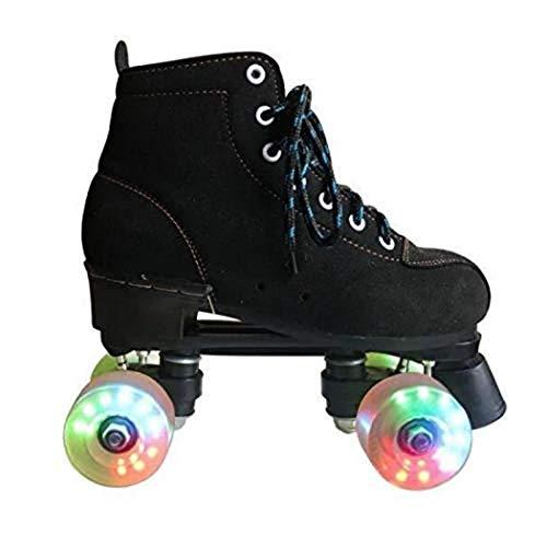 Roller Skates Passend Für Mode-Ikone Anfänger Und Junge Mädchen Vier Runden Rollschuhe Doppelreihe Rollschuhe Outdoor-Sportarten Rollschuhe,B,34