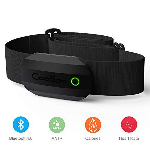 CooSpo Brustgurt Bluetooth & ANT+ Herzfrequenzsensor Brustgurt HRM Sensor IP67 Wasserdicht für Garmin, Adidas Run app, Wahoo, Elite HRV, Endomondo, Tomtom