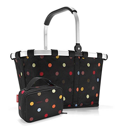 Set carrybag BK, thermocase OY, SBKOY Einkaufskorb mit Kleiner Kühltasche, dots (7009)