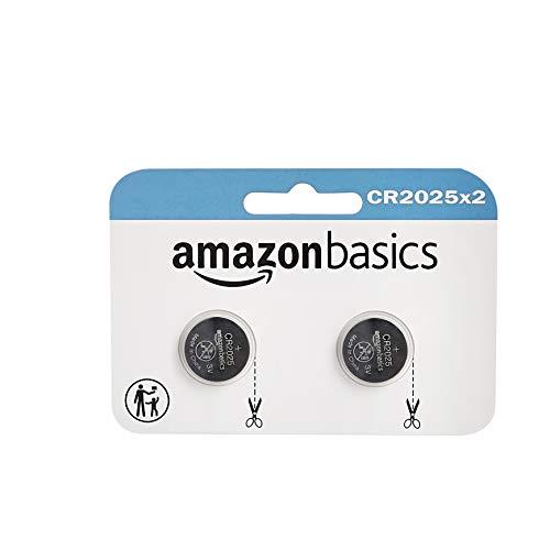 AmazonBasics – CR2025 Lithium-Knopfzelle, 2er-Packung