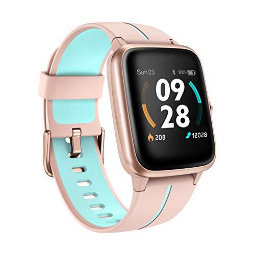 Smartwatch GPS, Fitness Armband Damen Herren 5ATM Wasserdicht 14 Sportmodi Activity Tracker mit Schwimmmodus für Kinder, Voller Touchscreen Aktivitätstracker mit Schrittzähler, Schlafmonitor, Stoppuhr